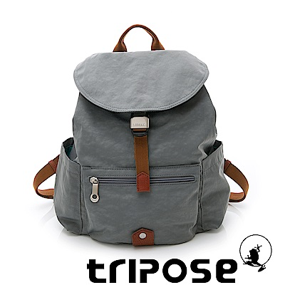 tripose MEMENTO系列微皺尼龍輕量防潑水後背包-小 灰