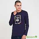 bossini男裝-印花長袖T恤06海軍藍