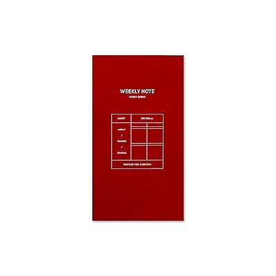 Funnymade 夢想家補充筆記本(長版書套適用)-週計劃-紅