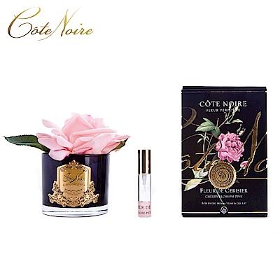 法國 CoteNoire 蔻特蘭 大朵粉紅玫瑰香氛花黑瓶
