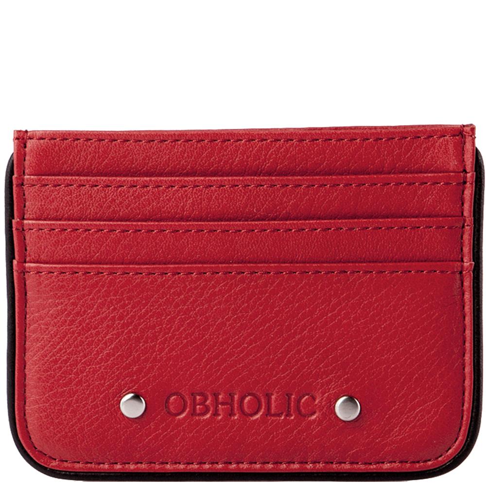 OBHOLIC 義大利牛皮卡片夾卡套票卡夾 OB09CR001