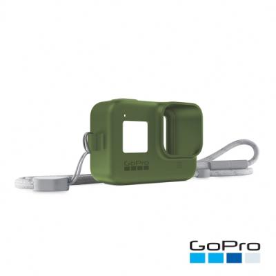 GoPro-HERO8 Black專用矽膠護套+繫繩-雨林綠AJSST-005