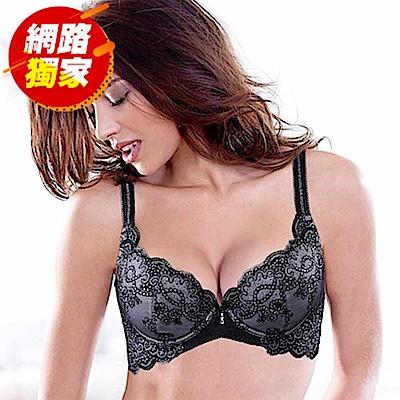 黛安芬-Premium Collection華麗美型B-E罩杯內衣(巴黎午夜)