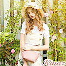 KINAZ 微風香氛鏈帶斜背包-玫瑰粉-常春藤系列