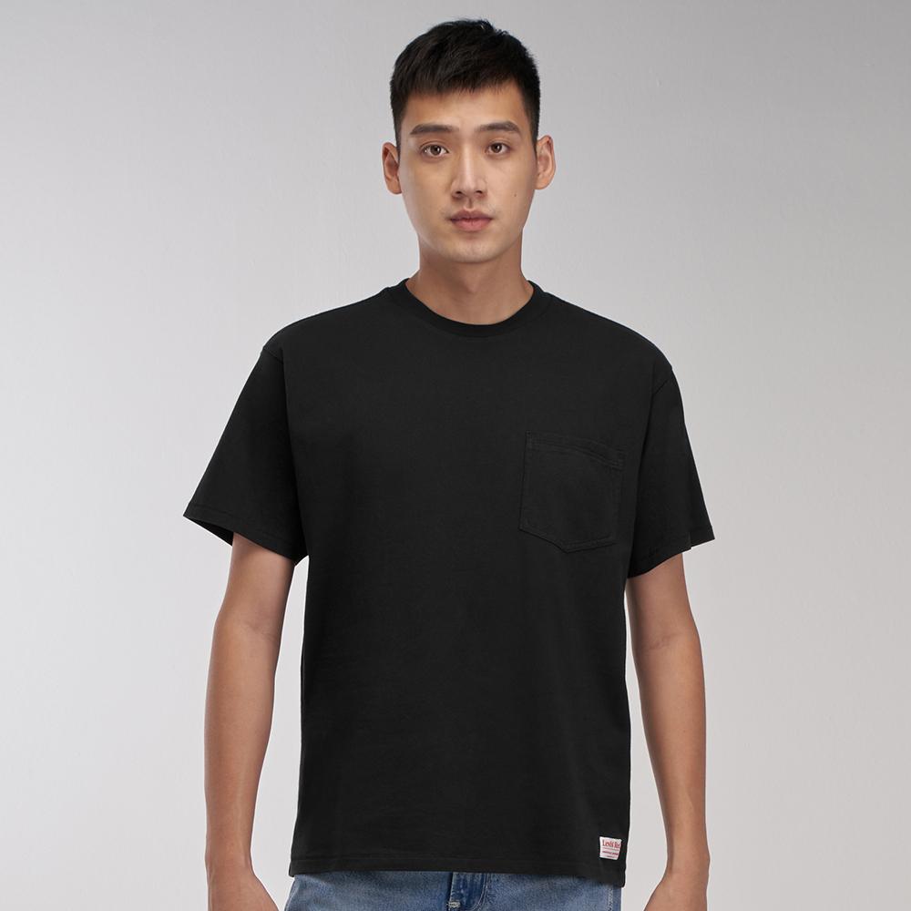 Levis Red 工裝手稿風復刻再造 男款 短袖T恤 寬鬆休閒版型 魚子黑