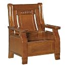 綠活居 范瑟亞雅緻風實木單人座沙發椅-76x79x103cm免組