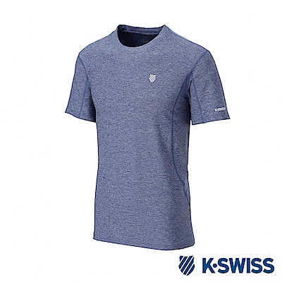 K-SWISS  PF Melange Tee排汗T恤-女-藍