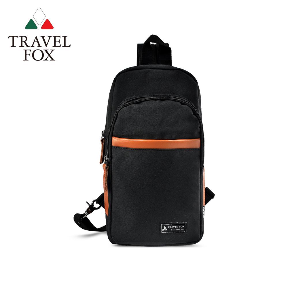 TRAVEL FOX 旅狐包-  隨性本色 單肩雙肩二用輕巧後背包- 好玩黑