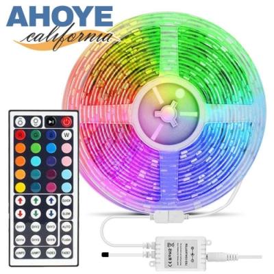 Ahoye RGB遙控調色LED燈條 5米(44鍵-300燈) 小夜燈