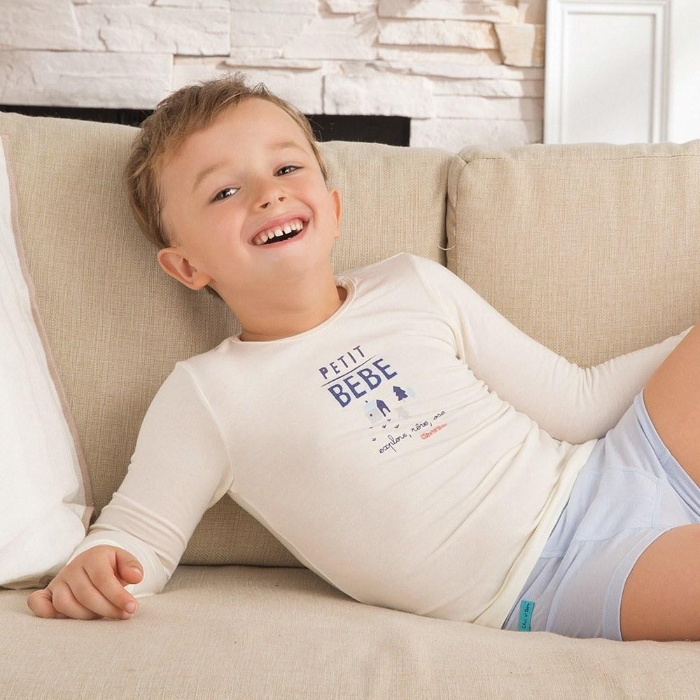 奇哥 甲殼素抗菌保暖布圓領衫(6-10歲)