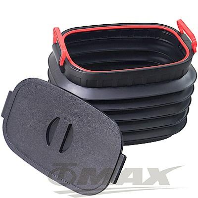 OMAX多用途摺疊伸縮收納桶-1入(贈超值魔術頭巾-5入-顏色隨機)-8H