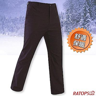 瑞多仕-RATOPS 男款 彈性刷毛保暖長褲(基本款)_DA3712 宇宙藍灰