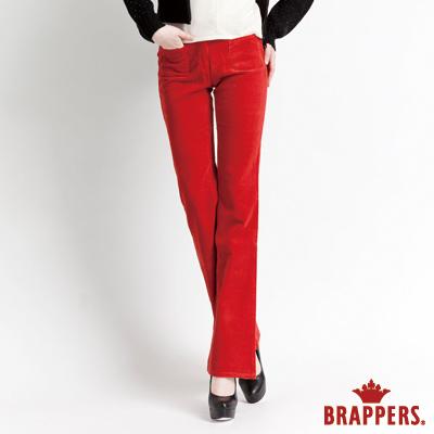BRAPPERS 女款 低腰絨布小靴型褲-亮橘