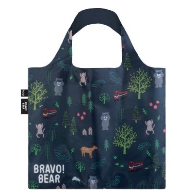 LOQI 購物袋-熊讚BRAVO 授權 (熊讚 山林 BB02)