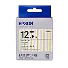 EPSON LK-4EBY Pattern系列繽紛糖果底黑字標籤帶(寬度12mm)