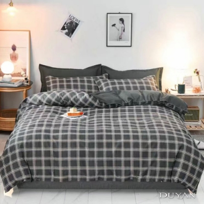 DUYAN竹漾 MIT 天絲絨-雙人床包被套四件組-羅馬黎明