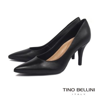 Tino Bellini 巴西進口OL氣質經典尖頭高跟鞋_黑