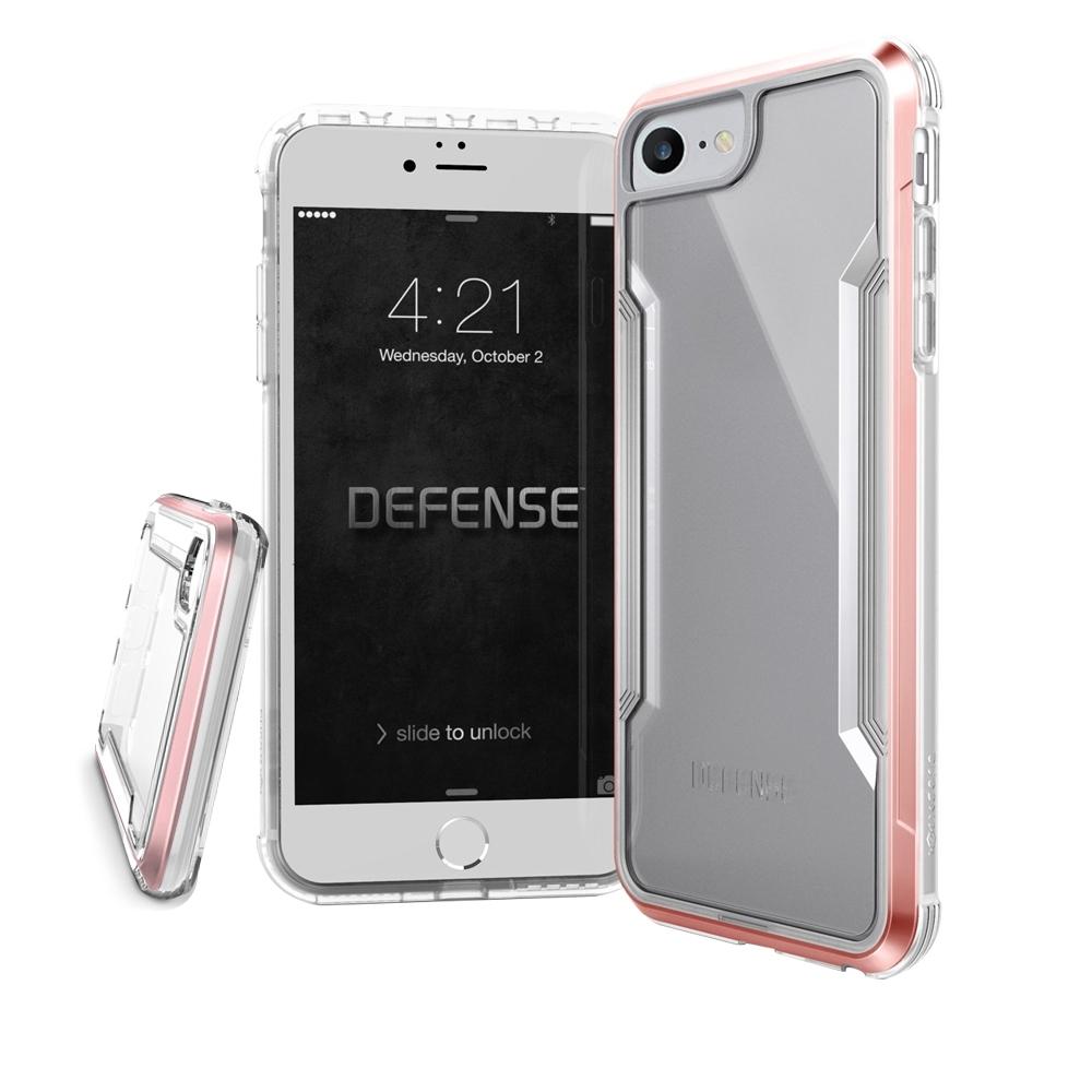 DEFENSE 刀鋒極盾II iPhone SE 2020/SE2 耐撞擊防摔手機殼(清透粉)