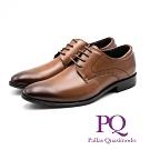 PQ 真皮縫線造型綁帶皮鞋 男鞋 - 棕(另有黑)