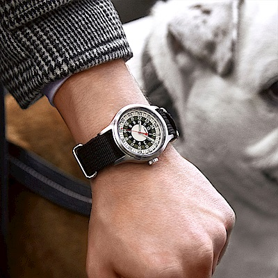 TIMEX x TODD SNYDER聯名限量MOD 摩登輪盤手錶-黑銀/40mm
