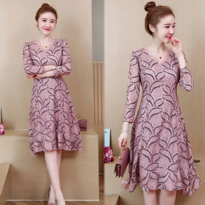 【韓國K.W.】(預購)好感風格顯瘦洋裝-2色