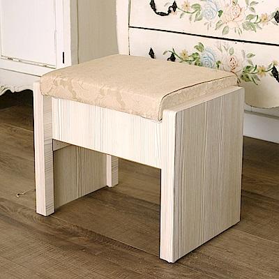 JP Kagu 鄉村風掀蓋式椅凳收納椅化妝椅