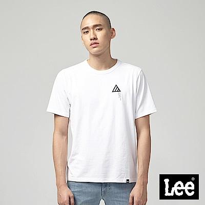 Lee 三角圖形短袖圓領TEE-白