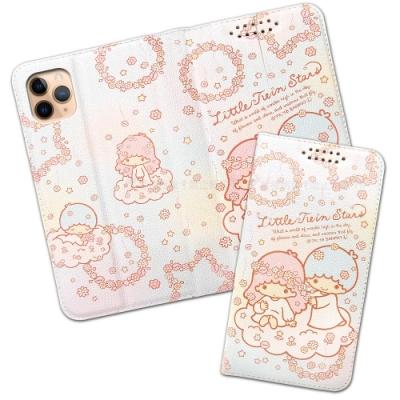 三麗鷗授權 iPhone 11 Pro Max 6.5吋 粉嫩系列彩繪磁力皮套(花圈)