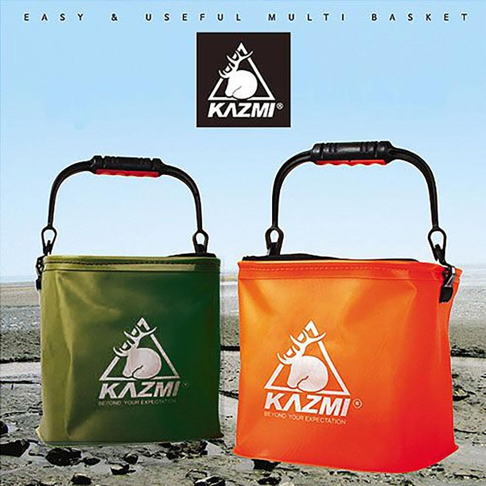 KZM 多功能折疊水桶(橘色)