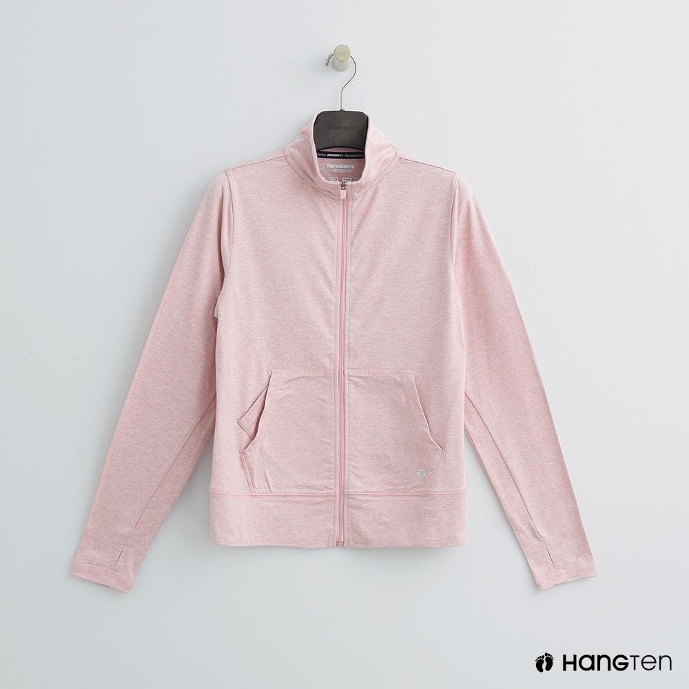 Hang Ten-女裝-ThermoContro -小立領機能外套-粉