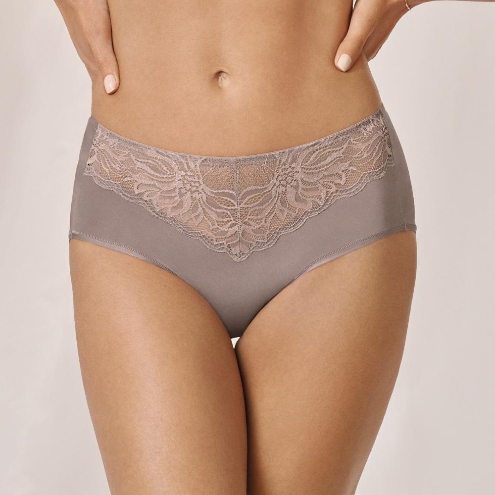 黛安芬-輕塑美型系列 中高腰平口內褲 M-EL 焦糖棕