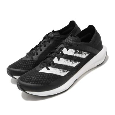 adidas 慢跑鞋 Rapidafaito Summer 女鞋 愛迪達 三線 路跑 緩震 透氣 球鞋穿搭 黑 白 EG0518
