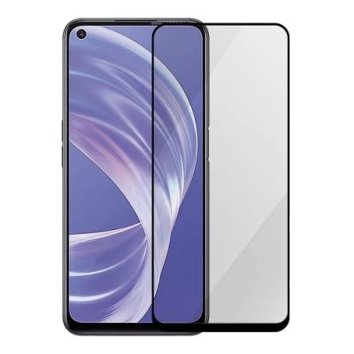 Metal-Slim OPPO A73 5G 全膠滿版9H鋼化玻璃貼-晶鑽黑