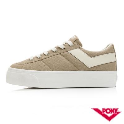 【PONY】PRO 80系列經典復古休閒鞋-女款-奶茶色