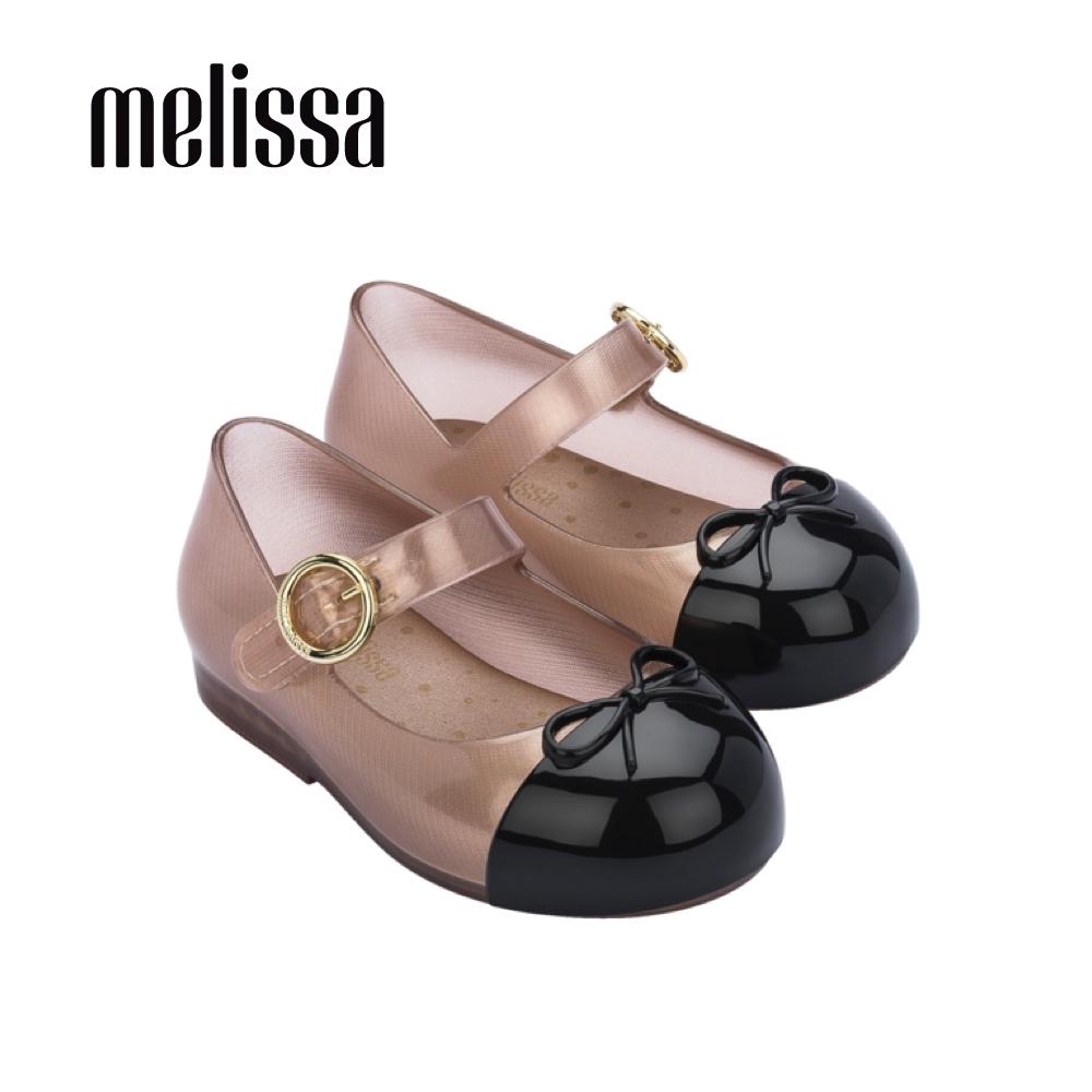 Melissa SWEET LOVE撞色蝴蝶結娃娃鞋 寶寶款-玫瑰金