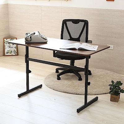 澄境 工業風120cm可調式升降工作桌/書桌/電腦桌120x60x52-76cm-DIY