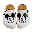 迪士尼 米奇 復古立體造型 休閒拖鞋-白