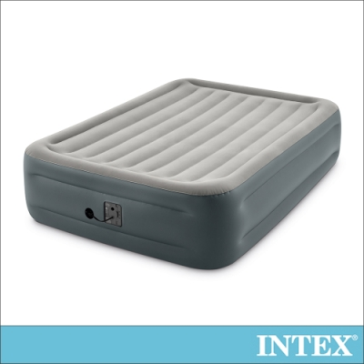 INTEX 豪華加高雙人加大充氣床墊-寬152x高46cm(64125)