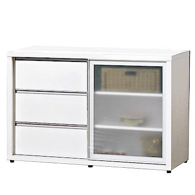 品家居 薇多恩4尺餐櫃下座(二色可選)-121x52x81cm免組