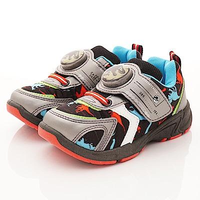 侏羅紀公園童鞋 恐龍電燈運動鞋款 EI3046灰(中小童段)