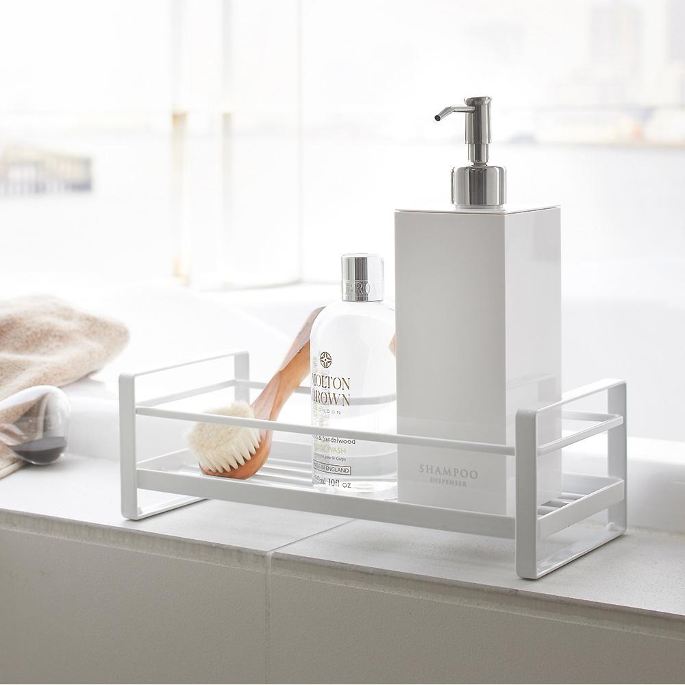 日本【YAMAZAKI】MIST瓶罐小物收納單層架-白★收納架/衛浴/雜物/萬用收納