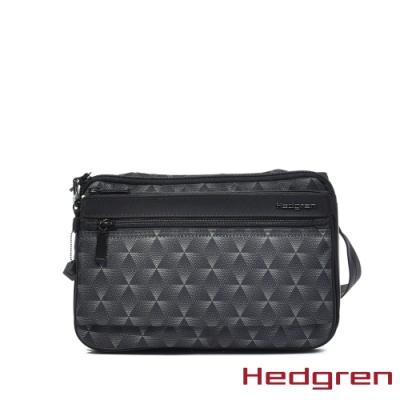 【Hedgren】方塊黑休閒斜背包 - HIC412  SALLY
