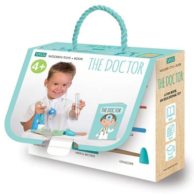 Wooden Toys+Book:The Doctor 醫生道具寶盒