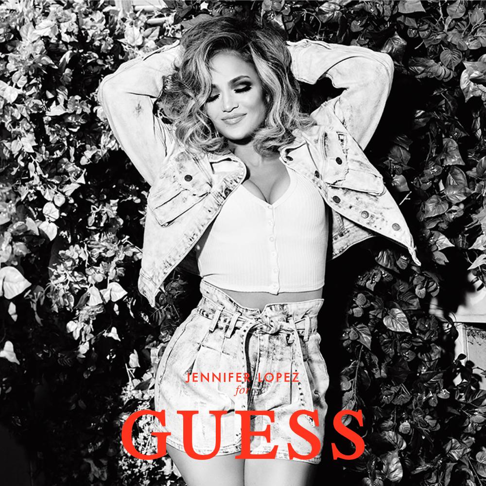 GUESS x J.Lo聯名款 女裝-水洗刷色短版牛仔外套-藍 原價3990