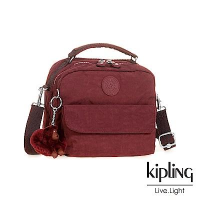 KIPLING高雅酒紅兩用側背後背包