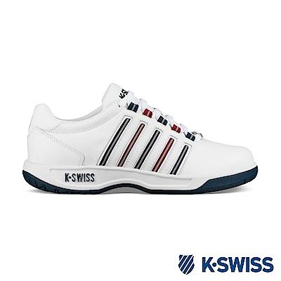K-SWISS Court Pacoima休閒運動鞋-男-白/藍/紅