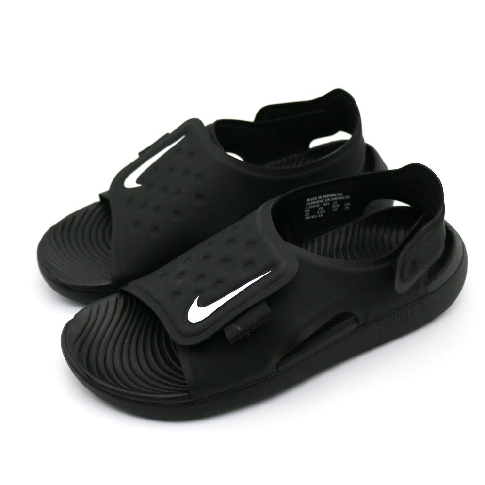 NIKE 中大童涼鞋-AJ9076001 黑色