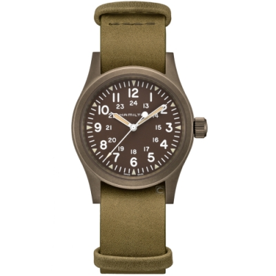 Hamilton漢米爾頓卡其野戰系列軍事手錶(H69449861)