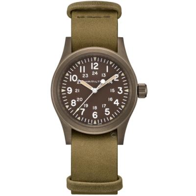 Hamilton 卡其野戰系列軍事機械錶(H69449861)38mm