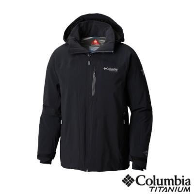 Columbia 哥倫比亞 男款-鈦 Omni-TECH 防水保暖外套-黑色